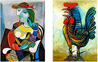 Alonline Art - Marie Therese Rooster by Pablo Picasso | print on wall sticker vinyl decal (Rolled) | 35