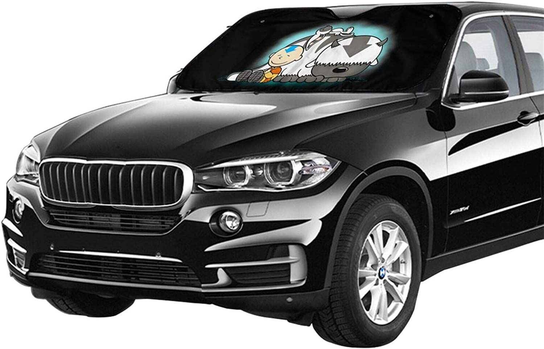 Universal Fit for Car Auto Sedan Truck SUV Blocks Uv Rays 100 Aang and Appa Avatar Car Windshield Sunshade Auto Sun Shade
