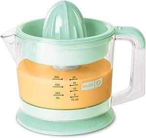 Dash Citrus Juicer Extractor: Compact Juicer for Healthy Juice, Oranges, Lemons, Limes, Grapefruit & other Citrus Fruit with Easy Pour Spout + 32 oz Pitcher - Aqua