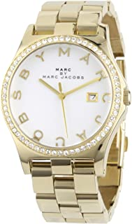 Marc by Marc Jacobs Henry Women's White Dial Gold-Plated Stainless Steel Band Watch - MBM3045