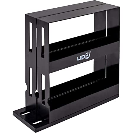 UPP étagère à épices Extensible I 2 tiroirs pivotables I Accessoire pour la Cuisine et Salle de Bain I 27,5 x 10,5 x 28 cm I Noir