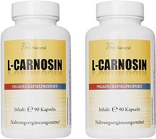 L-Carnosine, 500 mg pure carnosine per capsule, 180 vegetarische capsules (2 doses van 90 capsules)