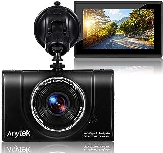 Cámara de Coche ,Dash cam salpicadero de Coche 1080P Full HD DVR cámara de vídeo grabadora 170 Gran Angular WDR, con Panta...