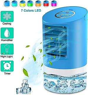 Climatizador Calefactor Ventilador,Unidad de aire acondicionado del ventilador del refrigerador del escritorio refrigerador aire para el ventilador velocidad contador tiempo 3 del Ministerio Interior