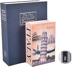 Hardson 2 pcs Book Safe with Zinc Alloy Combination Lock, Anti-Theft Safe Secret Box, Money Security Hiding Box, Gun Safet...