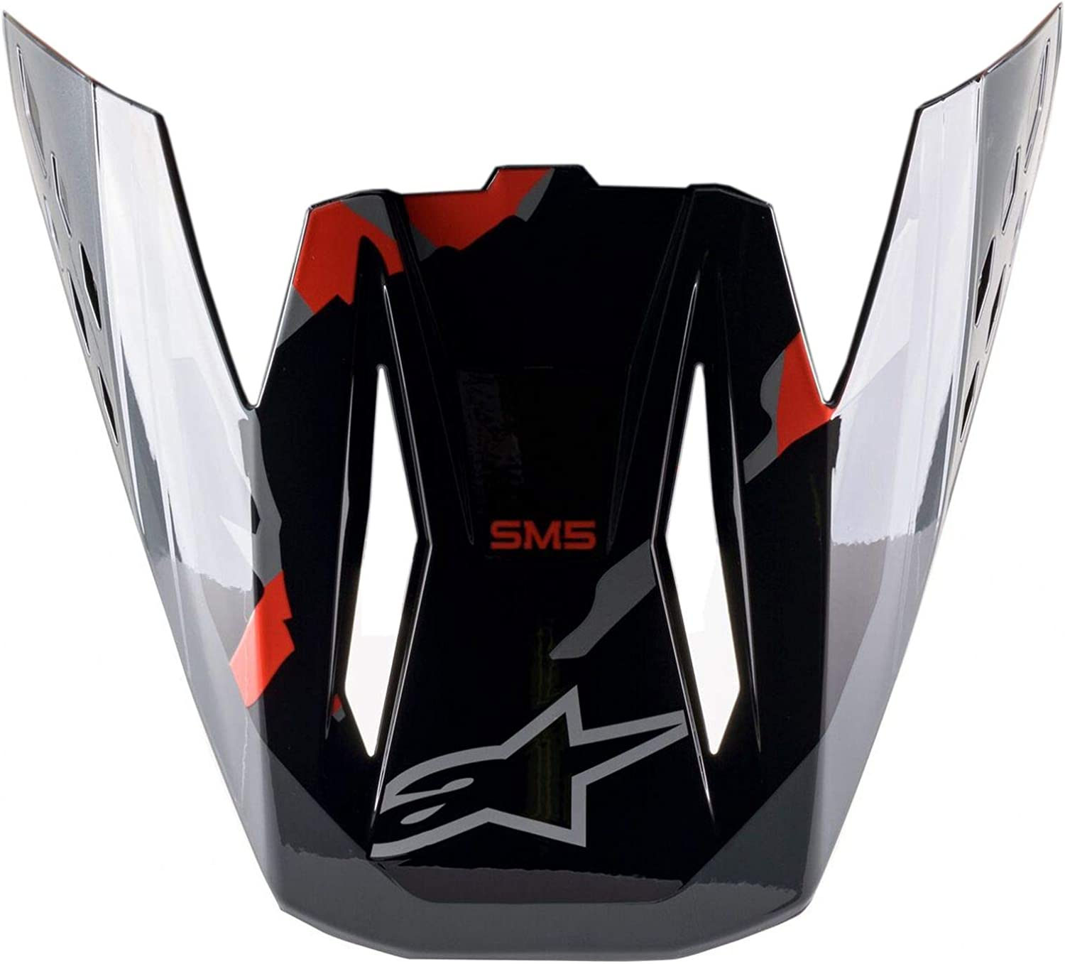Alpinestars Unisex-Adult Visor New products world's highest quality popular S-M5-Rover Mul Red Fluo Greycamo SEAL limited product