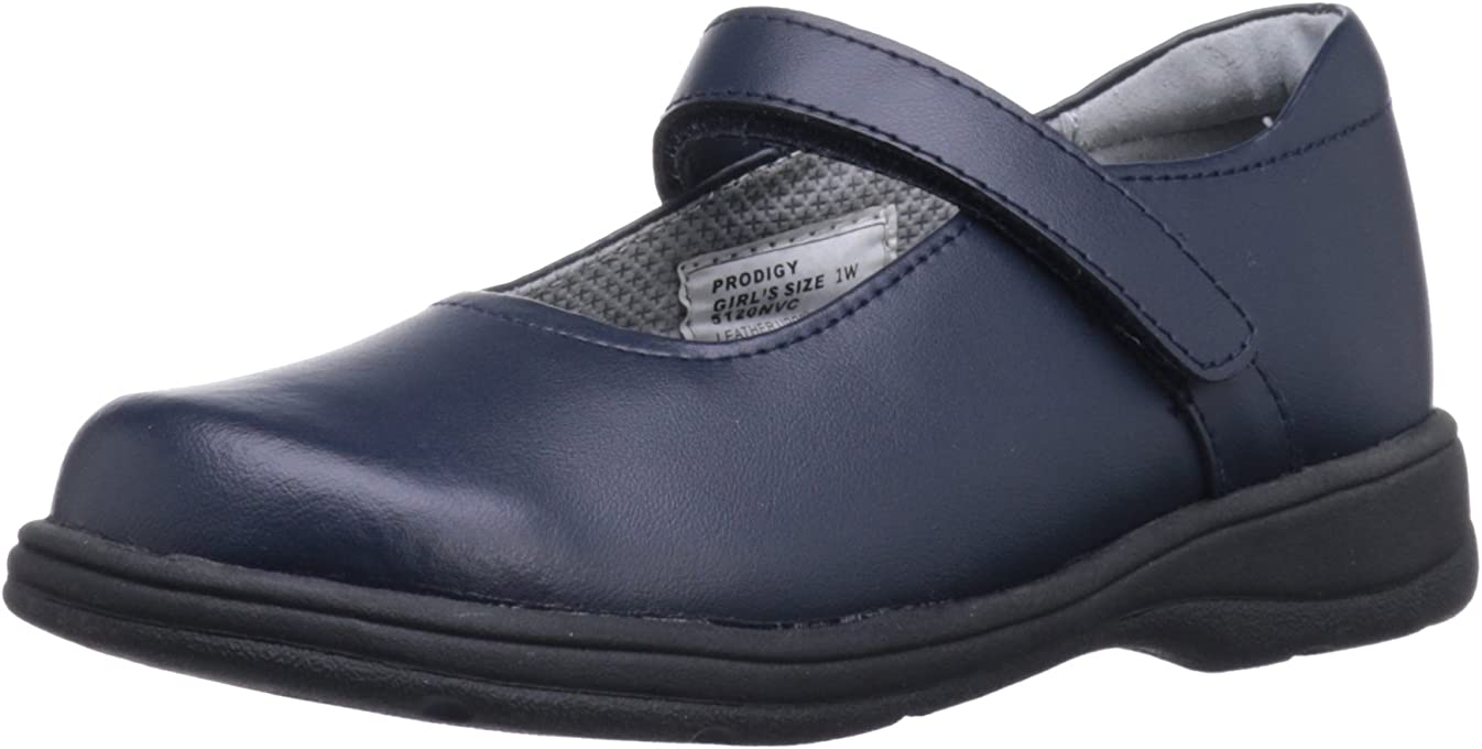 SCHOOL ISSUE Prodigy 5100 Mary Jane Uniform Shoe,Navy