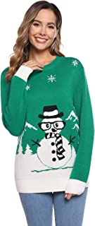 Airbou Women's Pullover Sweaters Knitted Ugly Christmas Sweater Pullover for Women Ladies Girls Teens S-XXXL