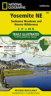 Yosemite NE: Tuolumne Meadows and Hoover Wilderness (National Geographic Trails Illustrated Map)