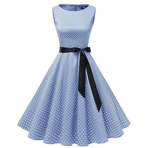1305a168d0 Gardenwed Women's 50s 60s Rockabilly Cocktail Dress Sleeveless Vintage Prom  Swing Party Dress