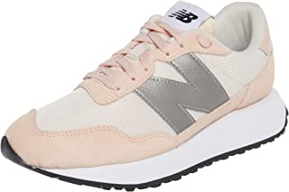 New Balance Side Stitched Contrast Logo Lace up Sneakers For Women