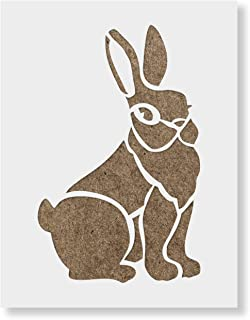 Rabbit Stencil Template - Reusable Stencil with Multiple Sizes Available