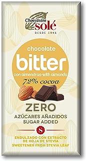 Chocolates Sole - Stevia Dark Chocolate with Almond No Sugar 100G