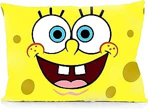 DoubleUSA Cute Spongebob Cartoon Pillowcases Two Sides Print Zipper Pillow Covers 20x30