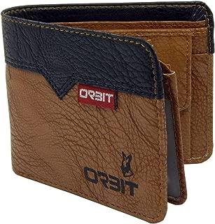 Orbit Men's Genuine Leather Wallet, Black-Tan (3460-BL-TN)