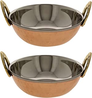 Serving Bowl Karahi Indian Food Serveware Set of 2