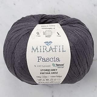 3 Pack Mirafil Fascia Tencel Yarn, 100% Lyocell 100 g (3.5 oz) / 150 m (164 yd), Yarn Weight: 4, Storm Grey - 15