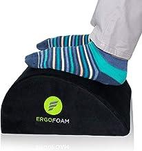 ErgoFoam Foot Rest Under Desk (Tall)   Orthopedic Teardrop Design   Large Premium Velvet Soft Foot Stool Under Desk   Most...