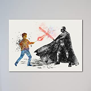Star Wars Harry Potter vs Darth Vader Print