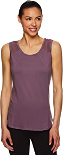 Gaiam Women's Strappy Open Back Yoga Tank Tops - Sleeveless Performance Workout Shirt