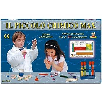 Il Piccolo Chimico Max 3 con MICROSCOPIO Tasco-Bresser 300 Ingrandimenti Piu di 180 Esperimenti Il Gioco della Chimica