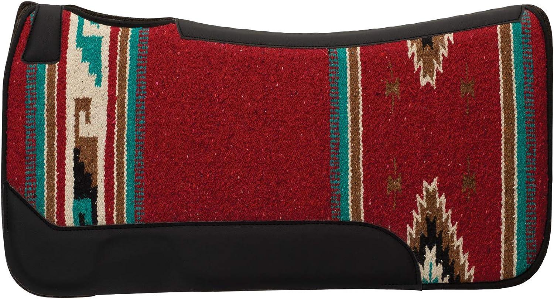 Contoured Single Weave Wool Blend Felt Saddle Pad