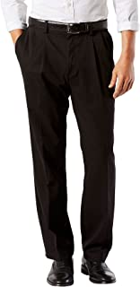 Men's Classic Fit Easy Khaki Pants-Pleated D3