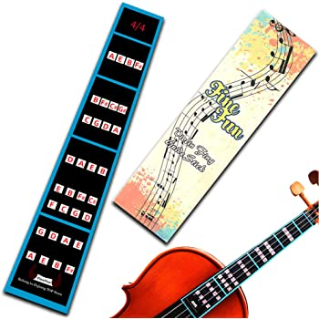 Guide. Fretless Finger Guide Learning Manual Song Library and Full Size Violin 4//4