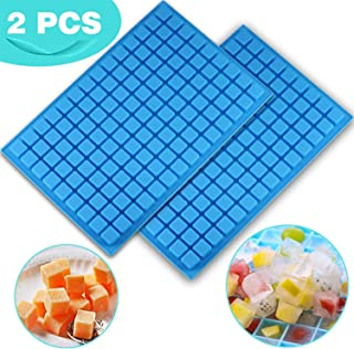 V-fox 2 Pcs/Pack 126 Cavity Square Silicone Mini Candy Molds for Making Chocolate, Hard Candy, Gummy, Jelly, Truffles Pralines, Caramels and Ganache, Random Color