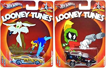 Looney Tunes Hot Wheels 2 Car Set Pop Culture Marvin the Martian & Wile E. Coyote Road Runner