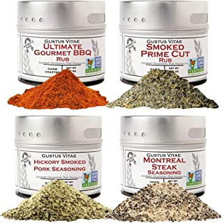 BBQ Pit Master Collection   4 Gourmet Seasonings & Spice Rubs   All Natural   Non GMO   Sustainably Sourced   Small Batch ...