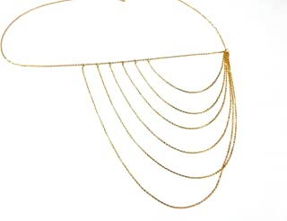 Town Of Trinkets Multi Layer Side Body Bikini Belly Body Waist Link Chain (Golden)