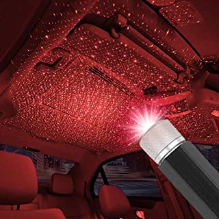 USB Car Ceiling Light, Modern Car Adjustable Romantic Auto Roof Star Projector Lights Portable Atmosphere Decorations Lamps for Car SUV Truck, Plug and Play