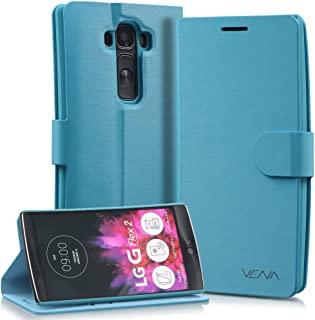 LG Flex 2 Wallet Case - VENA [vSuit] Draw Bench PU Leather Wallet Flip Cover with Stand and Card Slots for LG Flex 2 (Electric Blue)