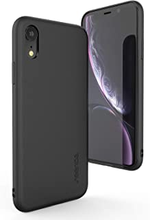 Leather Case Compatible iPhone Xr 6.1 inch - seenda Protective Phone Cover Ultra Slim Genuine Leather Case Compatible for iPhone XR 6.1'' 2018 - Black