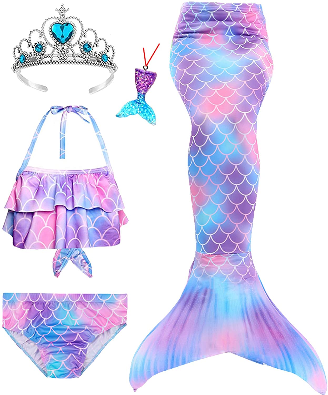 5Pcs Mermaid Spasm price Tails 70% OFF Outlet for Swimming Girls Set Suit fo Bathing Bikini