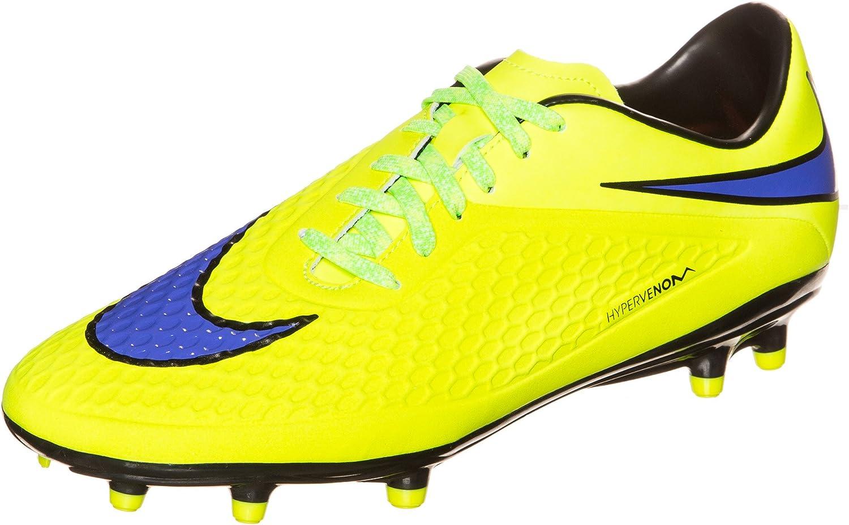 Nike Hypervenom Phelon FG Soccer Cleats (Volt HOT Lava Persian purple)