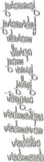 Sizzix 661179 Calendar Words Script Thinlits Die Set by Tim Holtz (12/Pack)