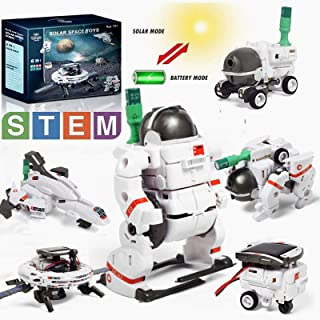 Lehoo Castle STEM Toys 6-in-1 Solar Robot Kit, Learning Science Building Toys, Educational Science Kits Powered by Sunligh...
