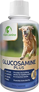 32 Ounce Liquid Glucosamine For Dogs | K9 Hip and Joint Health Supplement | Formulated with MSM, Turmeric Root and Antioxidants | Non-GMO and Shellfish-Free | Anti-Inflammatory, Antioxidant | USA M