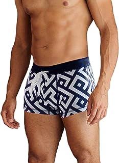 COOFANDY Men's Square Leg Swim Briefs Printed Swimsuit Athletic Swimwear Bathing Suit Swimming Trunks