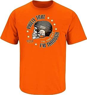 Philadelphia Hockey Fans. Philly True 'Til The Day I'm Through. Orange T-Shirt (Sm-5X)
