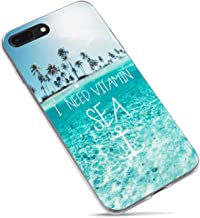iPhone 6 Case,iPhone 6s Case,Summer Tropical Beach Love Life Quote and Saying Quotes I Need Vitamin Sea Palm Tree Blue Cle...