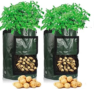 Cefrank Bolsas para Cultivo de Patatas, Bolsas para macetas con Ventana abatible y asa, hortalizas de Cultivo, Patata, Zan...
