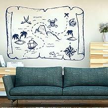 SINGE ET BATEAU PIRATE Dessin Animé Mur Autocollant Mural Vinyle Art Décalcomanie Bébé Nursery decal