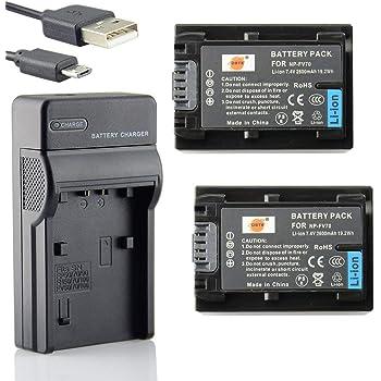 DCR-DVD810 ip1e,DCR-DVD810 ip200 K ip210e ip220e Cargador De Viaje Kit para Sony DCR-HC1000E DCR-DVD810 ip220 ip45e c/ámara DCR-DVD810 ip220 K DSTE ( 2 Pack ) bater/ía de repuesto de NP FF50