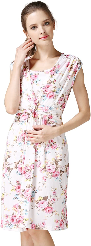 Emotion Moms Summer Flower Maternity Clothes Breastfeeding Nursing Dresses for Pregnant Women