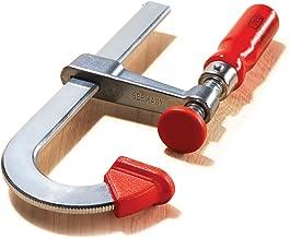 Bessey Tools LMU2.004 10 cm, braçadeira de barra estilo U, aço com cabo de madeira vermelha