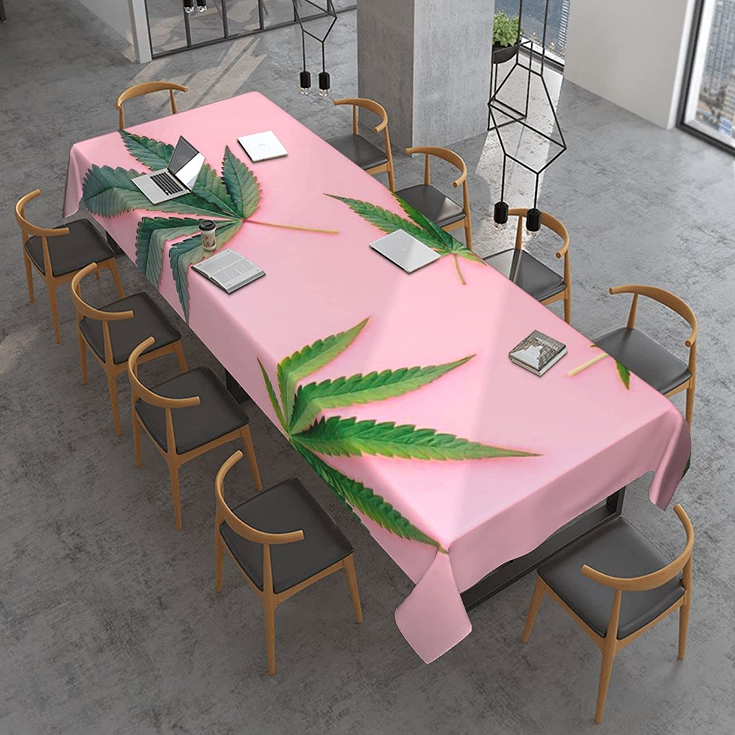 Marijuana Leaf Ranking integrated 1st place Cannabis Rectangle Table Cloth Oil Spill Proof P famous