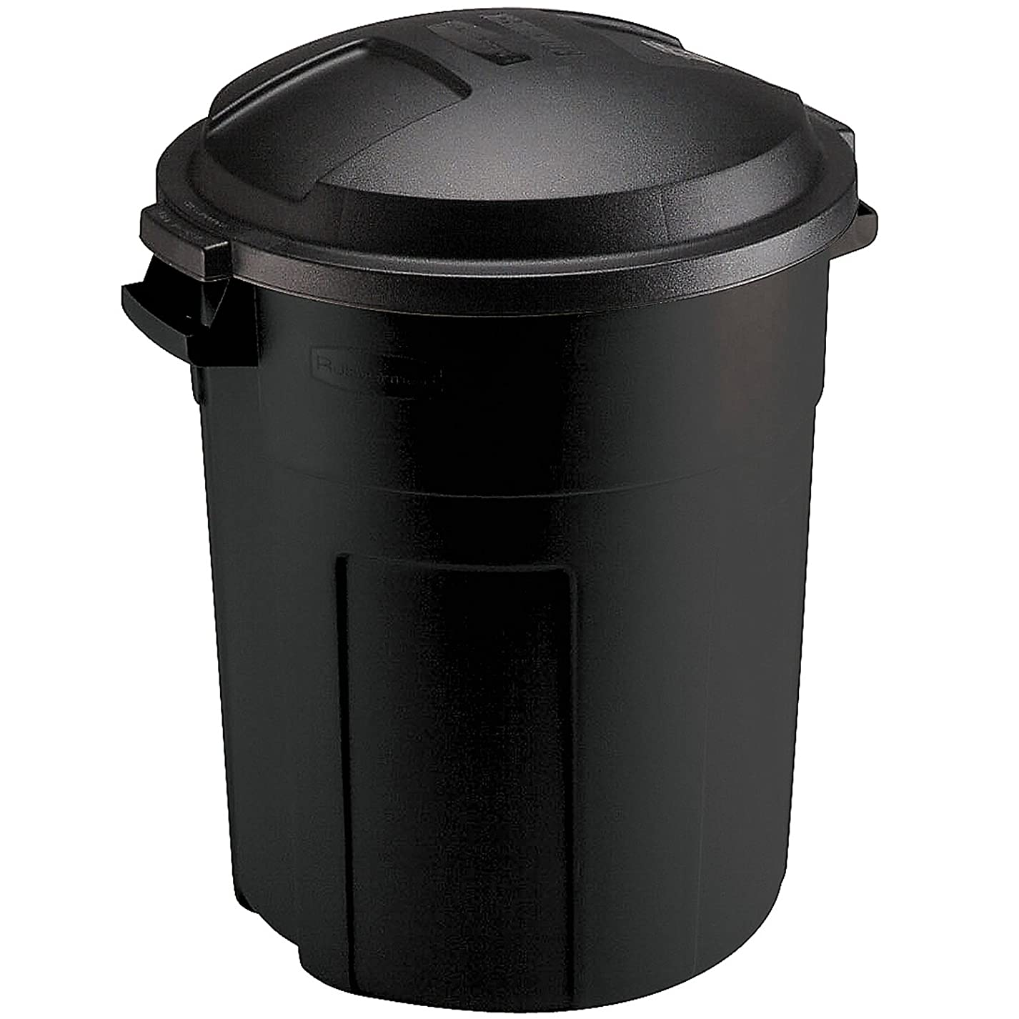 不合格フラップ散文ラバーメイド(Rubbermaid) 屋外用 ゴミ箱 丸型 ラフネック20ガロン (75.7L) ブラック FG289200BLA